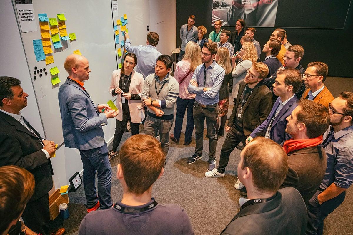 erminas Hilmar Bunjes beim Ethik-Workshop Autonomous Driving Audi MQ!